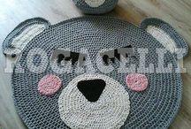 carpet crochet &pouf bear