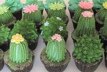 Cactus Cupcakes / Cupcakes de cactus - cactos