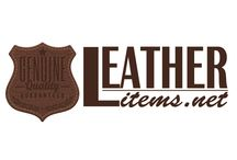Leather Items / We use USA-sourced leather that's cut from the strongest part of the hide, along with heavy-gauge nylon thread, to build items that gain character with us.