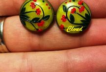 Polymer Clay Earrings / Polymer clay handmade bijoux Claudianicolazzo