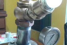 lámpara con válvula de incendio