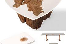 Tisch mit Wurzel