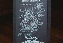 Wedding and Event Signage / Chalkboard, wood, and other signage