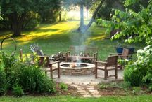home-firepit ideas / by Kristie Marshall