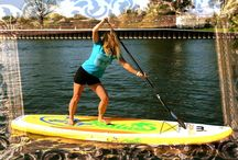 "Mistral Kailua Fit Board 11'5"" / Mandy strikes a few poses on her new Kailua Fit SUP Board. Super stable, comfortable matting and plenty of stainless 'D' rings for stretch bands."
