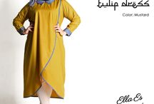 2015 - Ramadhan Edition - Gazala Midi Tulip Dress / Ramadhan Edition : Midi tulip dress, material IMA Cotton which specially designed for sophisticated curvy women originally made by Indonesian Designer & Local Brand: Ella Es Bonita.