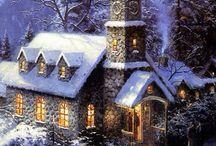 Рождественские пейзажи