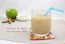 Receta: Refresco de quinua con manzana verde / Zumo de quinua con manzana verde