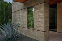 Beton piaskowiec drewno
