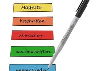 Write-On Magnetic Strip Pen Assorted Colours Bunt Write Shelves Labelling Fridge