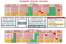 calendar scolar 2017 2018