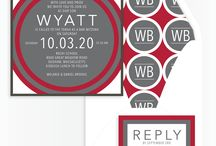 Shades of Red - Bar Mitzvah / Bar Mitzvah Invitations and Party Ideas in Shades of Red