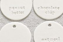freckled laundry clay tags