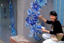 Geverfde Mure | Painted Walls
