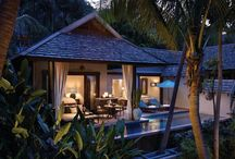 Make yourself at home / Your hillside or beachfront villa with a chic, al fresco living space and a private infinity pool and astonishing panoramas of Laem Yai Bay, Koh Phangan and the Gulf of Siam.