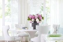 Wonderful White / White - crisp, clean and surprisingly giving. Pairs well with just about every color and all white will always give a chic looks to a space. Check out the use of white in these fabulous projects and pin your favorite.