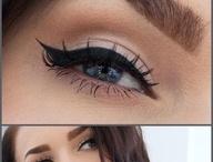 dudak dolgun,gözler ve kaşlar belirgin / Make up