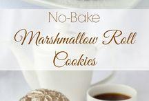 Marshmallow choc cookies