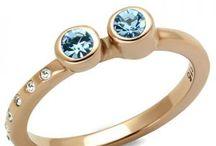Oceľové šperky s medeným efektom / Šperky z chirurgickej ocele s medenou povrchovou úpravou - takzvané ružové zlato, alebo medené šperky. Krásne prstene a náušnice za vynikajúcee ceny.