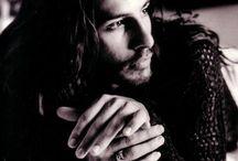 hot men with long dark hair
