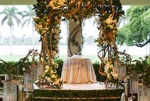 "Wedding Ceremony Design Ideas / Wether you are saying your ""I Dos"" in a church or outdoors, these places will be the setting for an unforgettable wedding ceremony. Decorations ideas to show off beautiful aisles and arches."