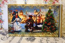 Christmas Decoupage Box Christmas Gift Box by RussianshawlRustic