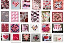 Valentine quilt blocks