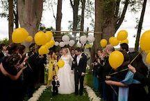 mariage noir et jaune
