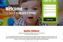 child care landing page design