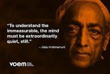 Jiddu Krishnamurthi / Valuable words
