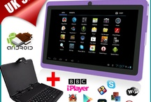 Maxtouuch 7 Inch Purple Android 4.0 Multitouch Tablet PC + Keyboard