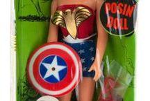 Vintage Super Heroine dolls