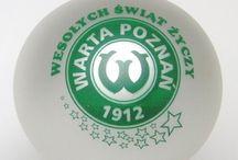 bombka warta poznań / Bombka z logo klubu piłkarskiego Warta Pozań