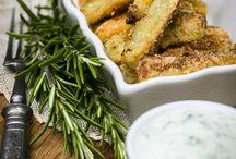 Gemüse im Backofen / Zucchini zum dippen