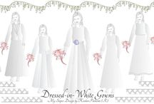 Tznius Wedding Gowns / Design Your Own Tznius & Kosher Bridal Gowns with My Sloper, Pattern Making Software for Modest Dressmaking available at KosherPatterns.com