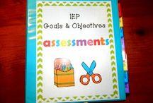assessment binders. / by Akacia Darnell