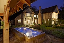 Edwards - The Great Hall / Viv and Mike Edwards have built a stunning oak framed country house where everything has been designed on a grand scale. Their house is featured in the June issue of Homebuilding & Renovating magazine. www.pinterest.com/homebuildingmag