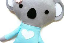 Koala / Cute koala plush and softies! Inspiration for crafts, home and nursery decor. Highlights indie handmade makers.