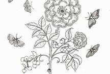 Secret garden Rose Butterflies