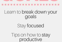Goal Setting & Productivity / How to set goals | how to be productive | goal setting tips | how to stay productive | goal setting worksheet | bullet journaling | how to create a bullet journal