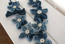 fiori di stoffa per collane