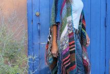 Long bohemian knitted
