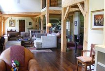 Timber Frame Living Rooms