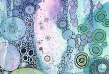 Aquarelle bulles intimes