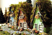 Masal evleri ve minyatür bahçeler
