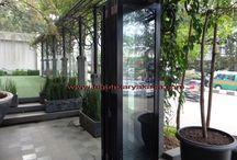 Model Pintu lipat alumunium / Pintu lipat aluminium