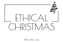 Ethical Christmas / How to have an ethical, eco friendly, sustainable Christmas. Choose gifts, food and home decor that are recycled, sustainable and environmentally friendly. Emphasis on products supporting fair trade and worker welfare. Discover more ethical christmas products & brands at ethicalfair.com
