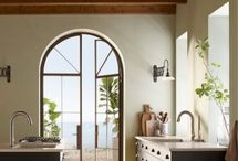Carmel Kitchen / Natural elements set the tranquil palette for this California seaside home. We mixed in classic Mission-style features for a design that's as distinctive as the region that inspired it. / by Kohler Co.