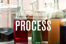 The Process / From indigo to madder, yielding richly colored yarns.