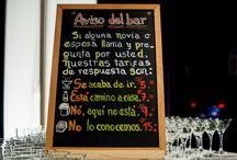 Barra de bebidas en boda